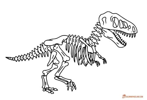 coloring pages of dinosaur bones t rex coloring pages free printable images for coloring
