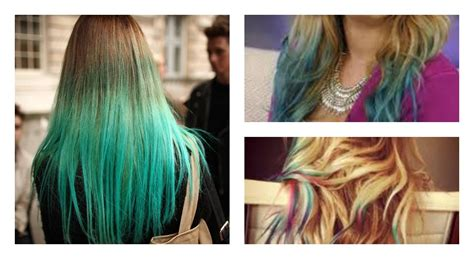 food color hair dye how to dip dye your hair with food coloring