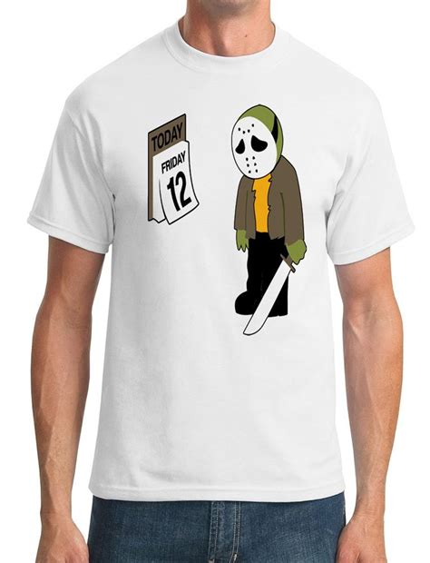 T Shirt Friday Killer 00 friday the 12th jason voorhees inspired mens t