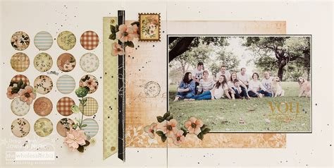 layout vintage vintage rose double page layout