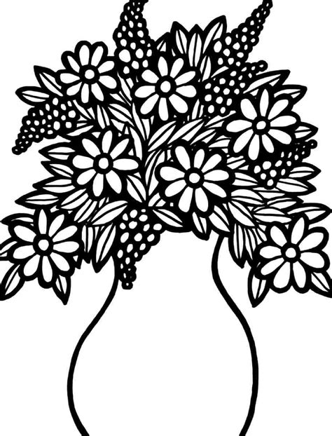 8 Best Images Of Printable Coloring Flower Bouquet Flower Bouquet Coloring Pages