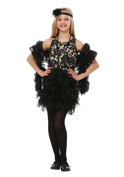 halloween costumes child dazzling flapper costume