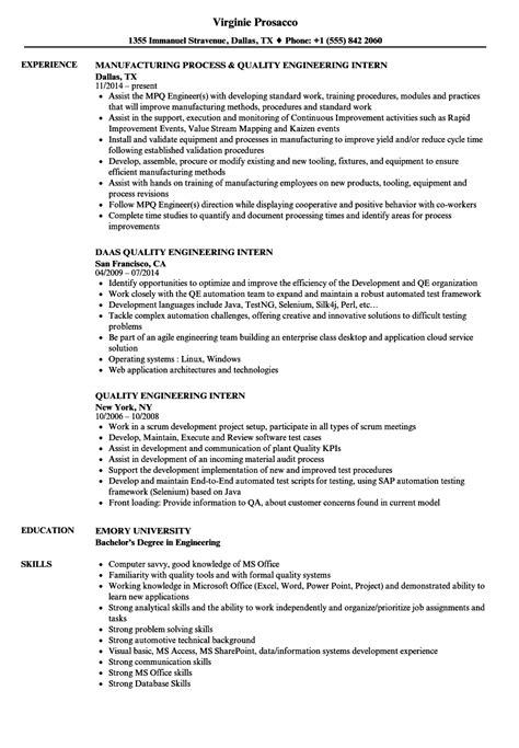 qa qc engineer resume sle product quality engineer sle resume grade book template