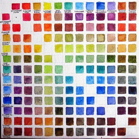 Kaos Mix Colour 5 skip dinner a big dessert watercolor colour chart watercolor and digital