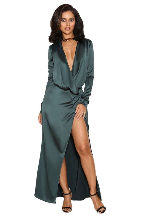 Clothing Max Dresses Serafina Teal Draped Maxi Dress