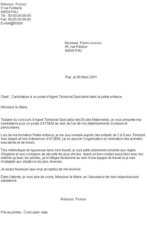 Lettre De Motivation De Atsem 5 Lettre De Motivation Atsem Lettre De Preavis