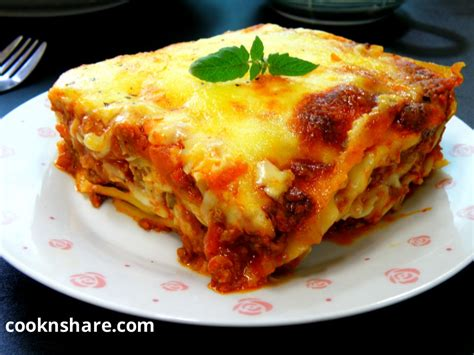 baked lasagna cook n share world cuisines