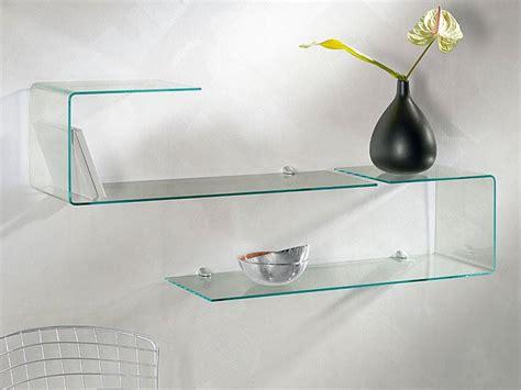 mensole in vetro mensole da muro un tocco di design per le pareti