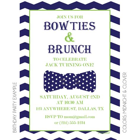 Bowties And Brunch Invitation Kateogroup Birthday Brunch Invitation Template