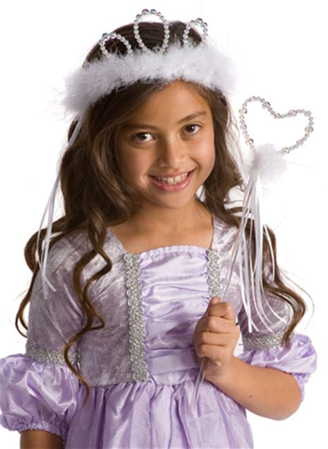 Kk377 Tiara Set Dress white princess tiara and wand accessory set dress up accessory