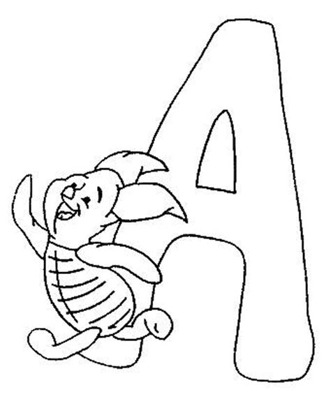 alphabet coloring pages disney coloring pages winnie the pooh alphabet picture 1