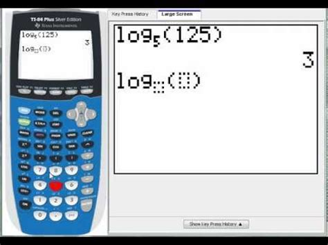 calculator ln any base logarithm on a ti 84 plus youtube