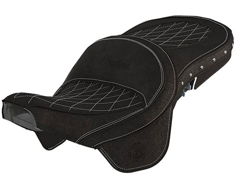 indian seats genuine leather heated touring seat black indian
