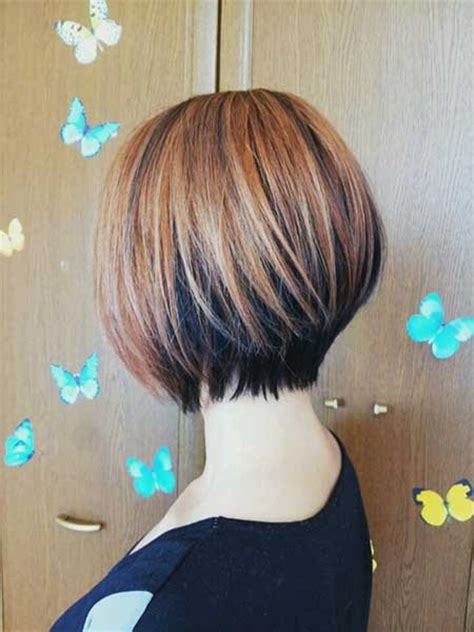 reverse bob with two tone color beautiful bob hairstyles short hairstyles 2017 2018