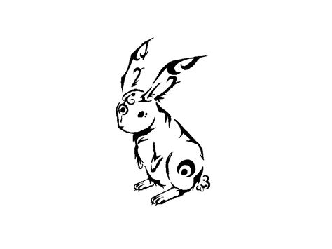 rabbit tribal tattoo sketch of tribal rabbit wallpaper