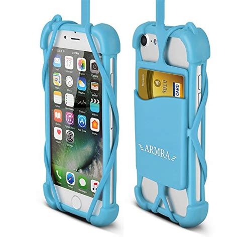 Smile Samsung Galaxy S7 Blue Light 2 in 1 phone lanyard universal 4 to 6 silicone