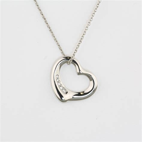 Pre Owned Tiffany Diamond Heart Pendant