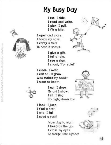 Verb Poem   English poems for kids, Kids poems
