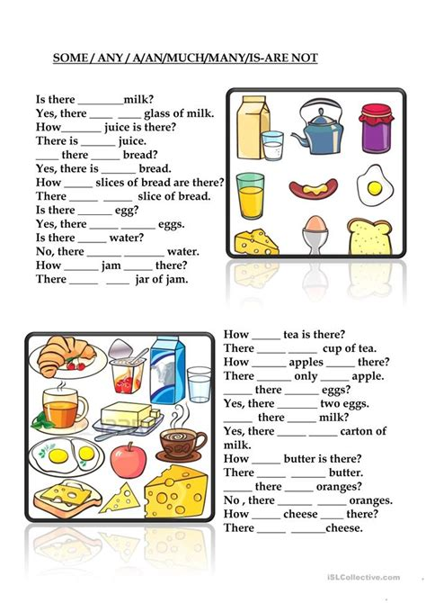esl some and any worksheets some any a an much many is are not worksheet free esl printable worksheets made by teachers