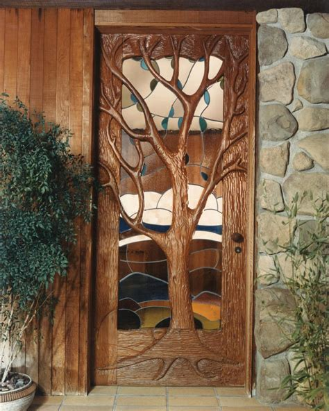 Unique Front Doors Special Construction Features Custom Carpentry Durango Colorado