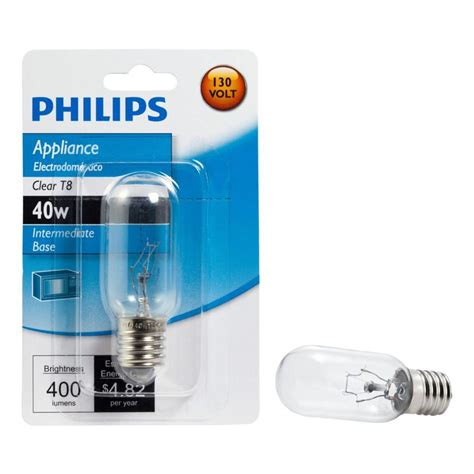 home depot microwave light bulb philips 40 watt t8 intermedate base incandescent light