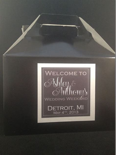 Wedding Box Labels by 294 Best Welcome Bags Boxes Gifts Images On