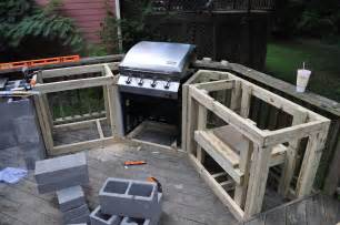 outside kitchen island the cow spot outdoor kitchen part 1