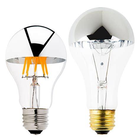white tipped light bulb a19 led bulb silver tipped led filament bulb 40 watt