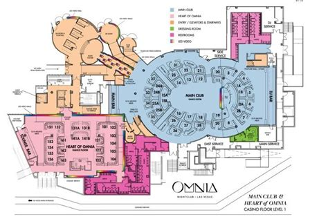 nightclub floor plans the official guide to omnia nightclub at caesar s palace