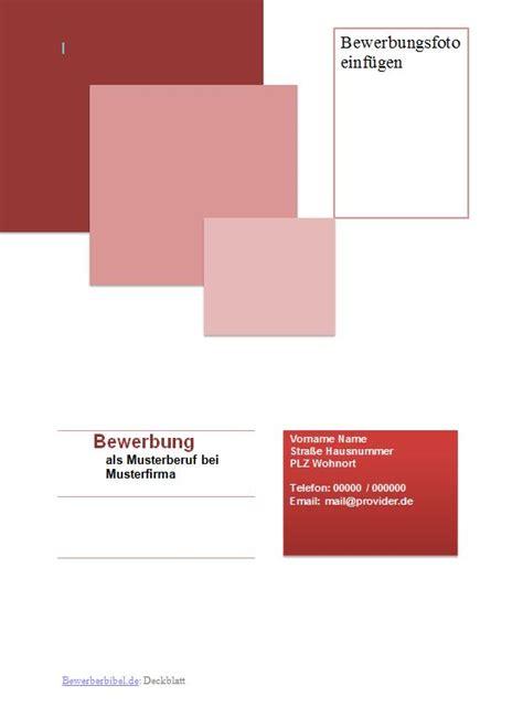 Bewerbung Deckblatt Rot Bewerbung Deckblatt Muster Vorlage Beispiel Downloaden
