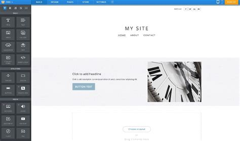we created a site in wix weebly squarespace wordpress