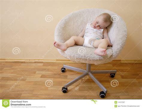 baby sleep moving chair baby sleeping on chair stock image image of cosy