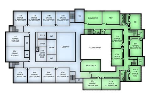 floor plan of school building 17 best images about okul on site plans