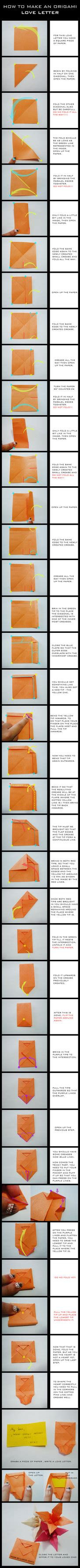 tutorial origami love tutorial origami love letter by darkumah on deviantart