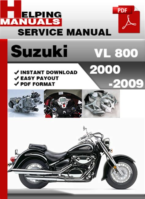 Suzuki Vl 800 2000 2009 Service Repair Manual Download
