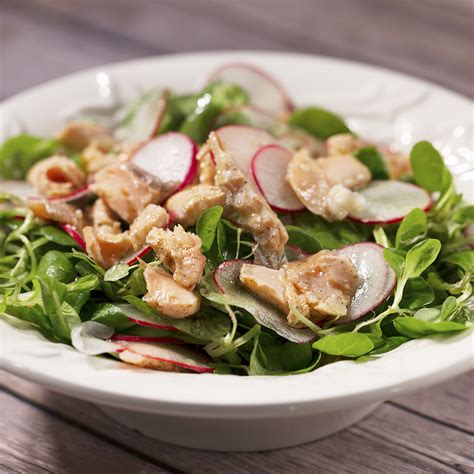 poached salmon recipes poached salmon with valerian and radish salad so delicious
