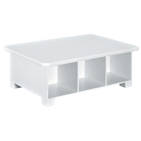 white play table with storage closetmaid 40 in w x 15 in h white 6 cube activity table