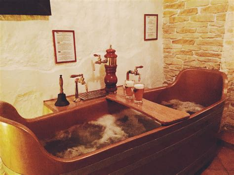 bathtub beer the beer spa experience in prague small towns city lights