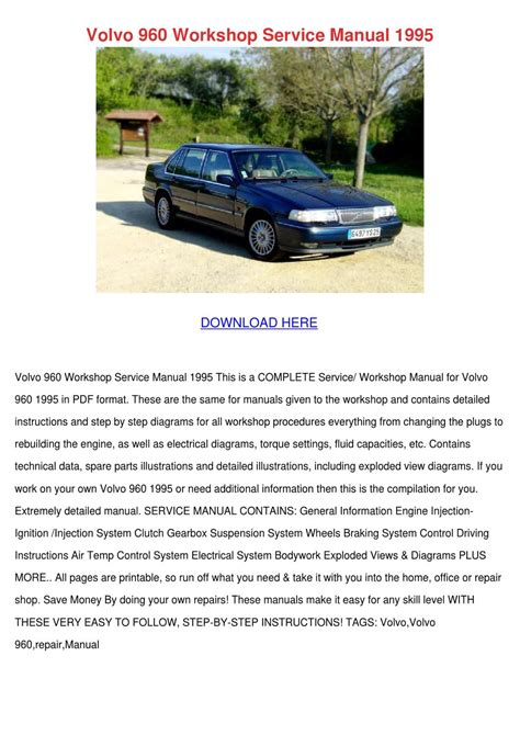 how to download repair manuals 1997 volvo 960 seat position control volvo 960 workshop service manual 1995 by willisvoigt issuu