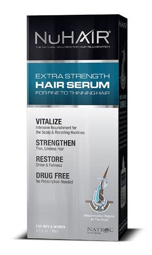 nuhair thinning hair serum extra strength for men and nuhair extra strength thinning hair serum for men and