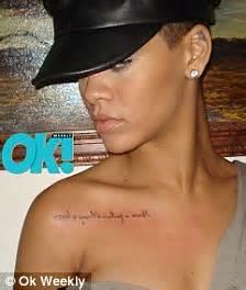 rihanna tattoo fail never a failure always a lesson the words rihanna has