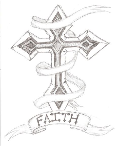cross with a banner tattoo designs cross tattoos page 10