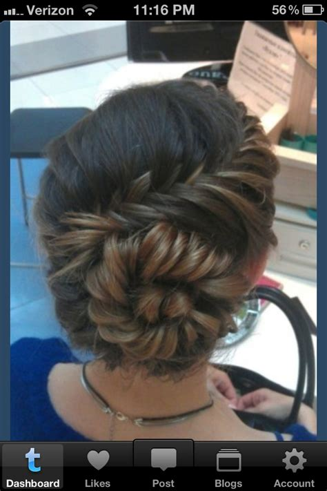 pictures of pinned up braids fishtail braid pin up senior prom pinterest