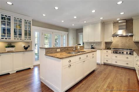 White Cabinet Kitchen Designs by Pictures Of Kitchens Traditional Off White Antique