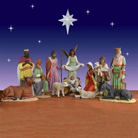 11 piece african american nativity set fiberglass