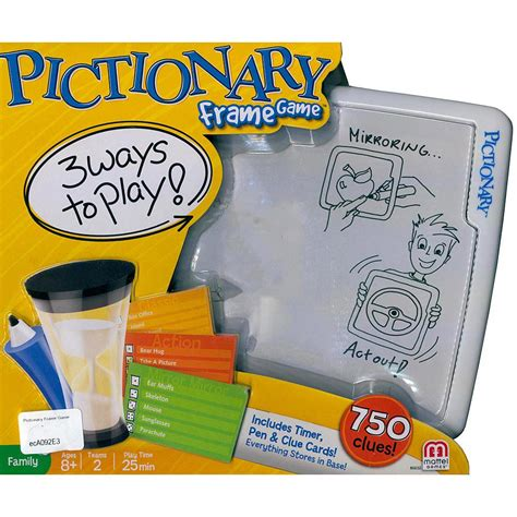 Pictionary Frame By Mattel pictionary frame 746775321710 calendars