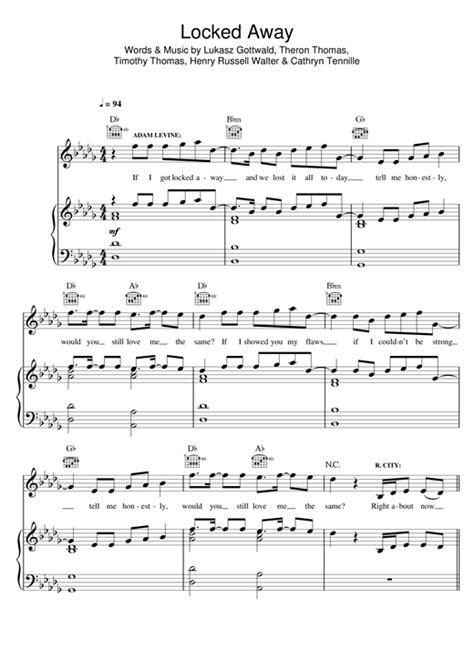 tutorial piano locked away r city locked away feat adam levine piano sheet music
