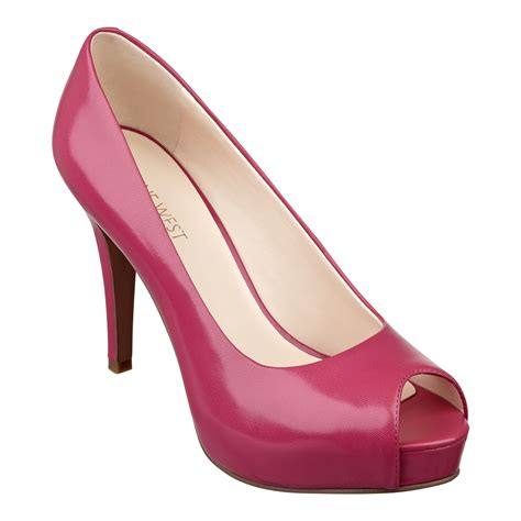 peep toe high heels nine west camya high heel peep toe pumps in pink