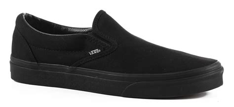 Vans Slip On Black vans classic slip on shoes black black free shipping