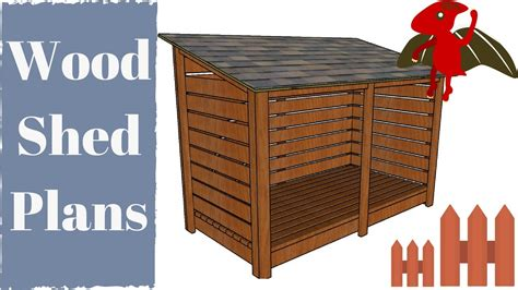 wood shed plans youtube
